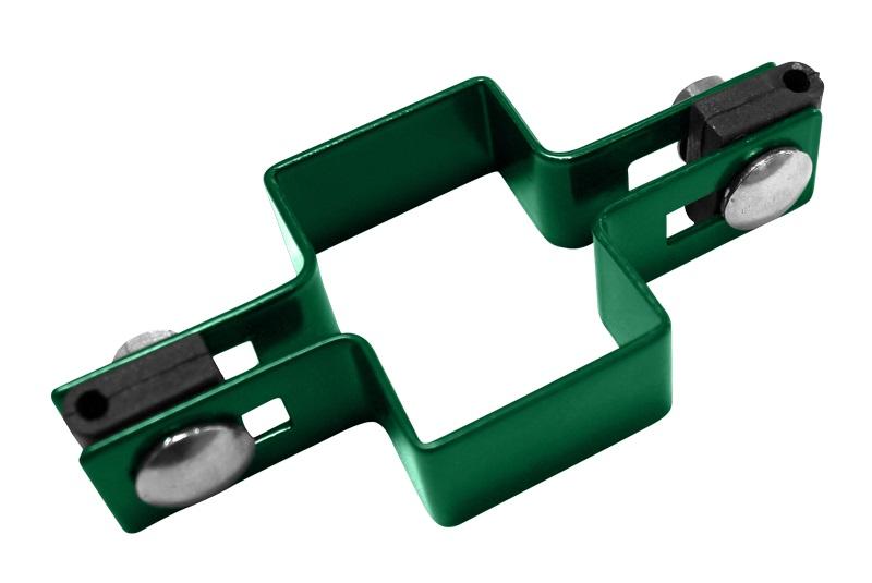 Příchytka na sloupek 60x40 mm průběžná, zelená 0,19Kg