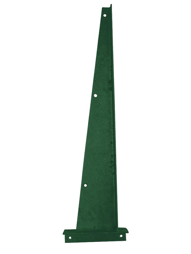 Bavolet Zn +PVC na křídlo branky - brány rovný, koncový pravý 0,43Kg