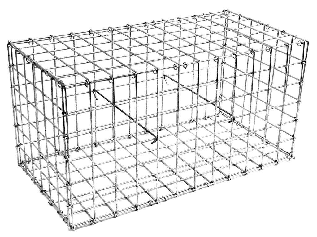 Gabionový koš BASIC 30, 600x300x300mm, oko 50x50mm, Ødrátu 3,5mm, 3x spona, 100x svorka 3,4Kg