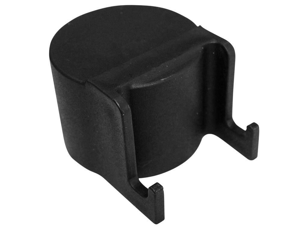 Čepička sloupku Ø 48 mm s háčky na čele, černá 0,02Kg