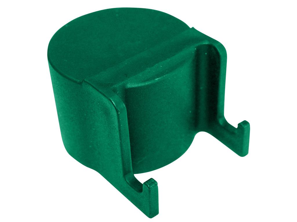 Čepička sloupku Ø 48 mm s háčky na čele, zelená 0,02Kg