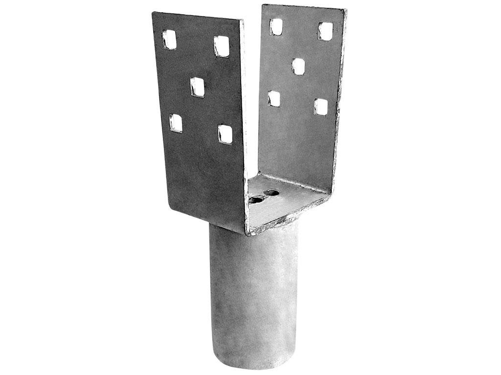 Adaptér zemního vrutu pro hranoly 100x100 mm 1,2Kg