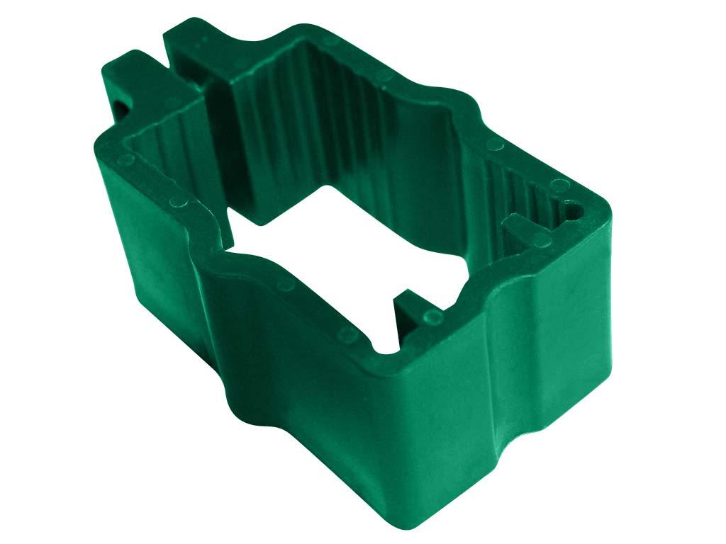 Objímka PVC na sloupky 60x40 mm pro panely PILOFOR, zelená 0,06Kg