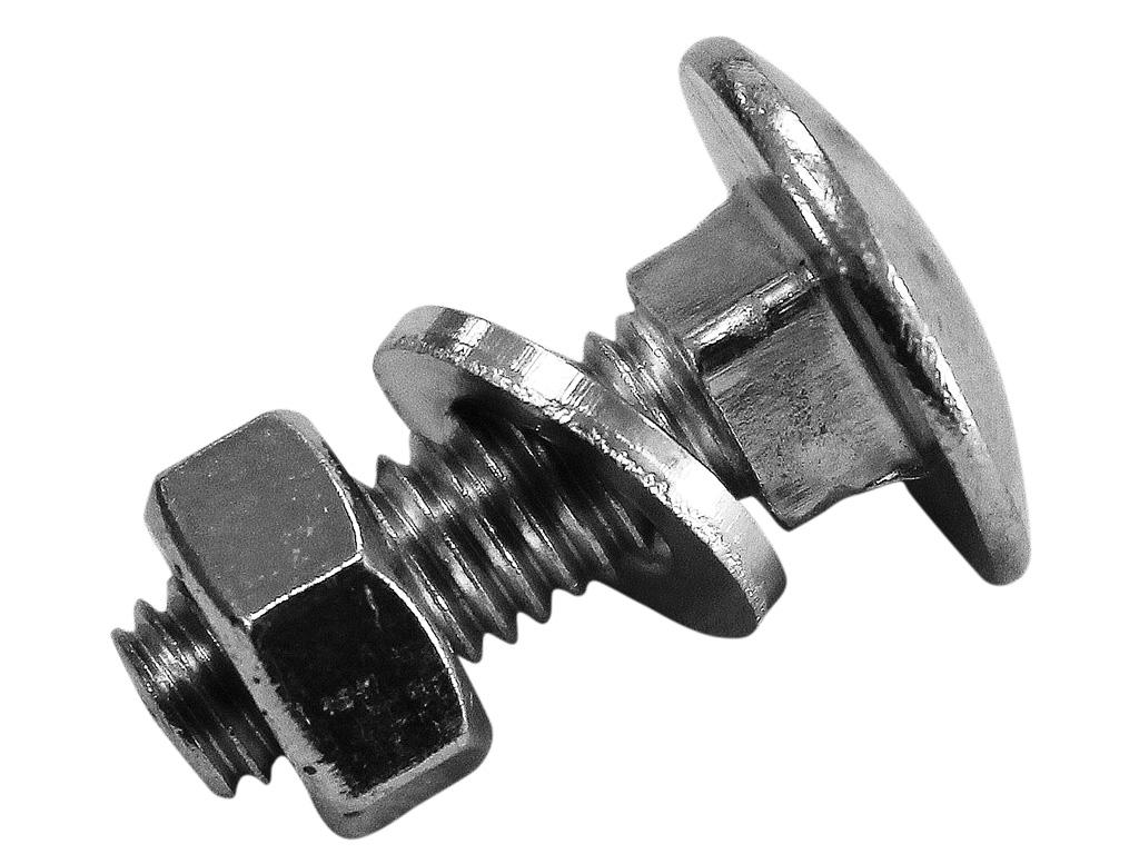 Vratový šroub M6x20 s podložkou a matkou 0,01Kg