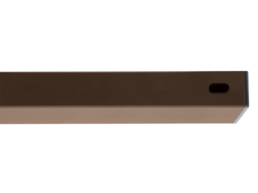 PILWOOD - příčník Zn+PVC 2000/60x40/1,5 RAL 8014 - hnědá 4,2Kg
