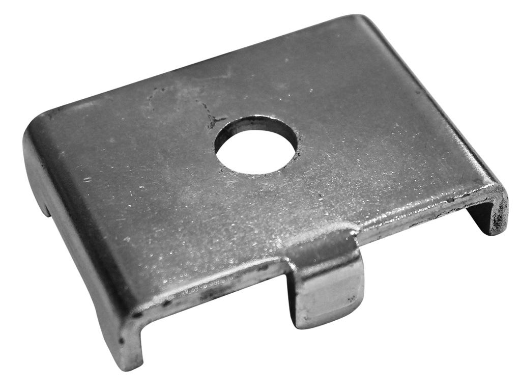 Příchytka Zn k uchycení panelu CLASSIC, SUPER na hranatý sloupek 0,1Kg